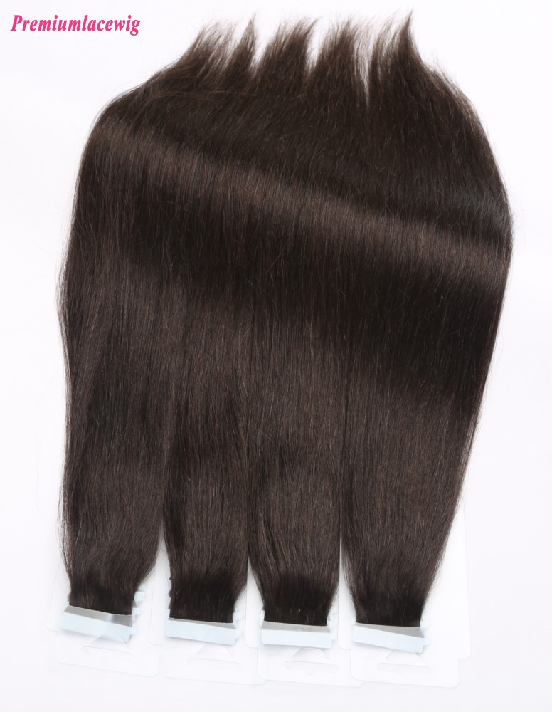 16inch Natural Color Straight Brazilian Human Hair Tape in Extensions