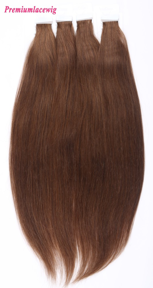18inch #4 Straight Peruvian Double Tape Human Hair Extensions