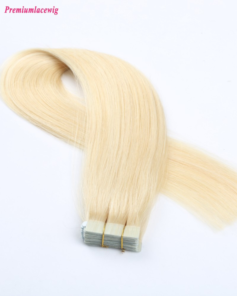 18inch #613 Blonde Straight Brazilian Human Hair Tape in Hair Extension