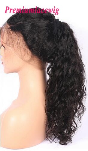 20 inch Premium Lace Wig Deep Wave Human Hair Brazilian Hair Full Lace Wig