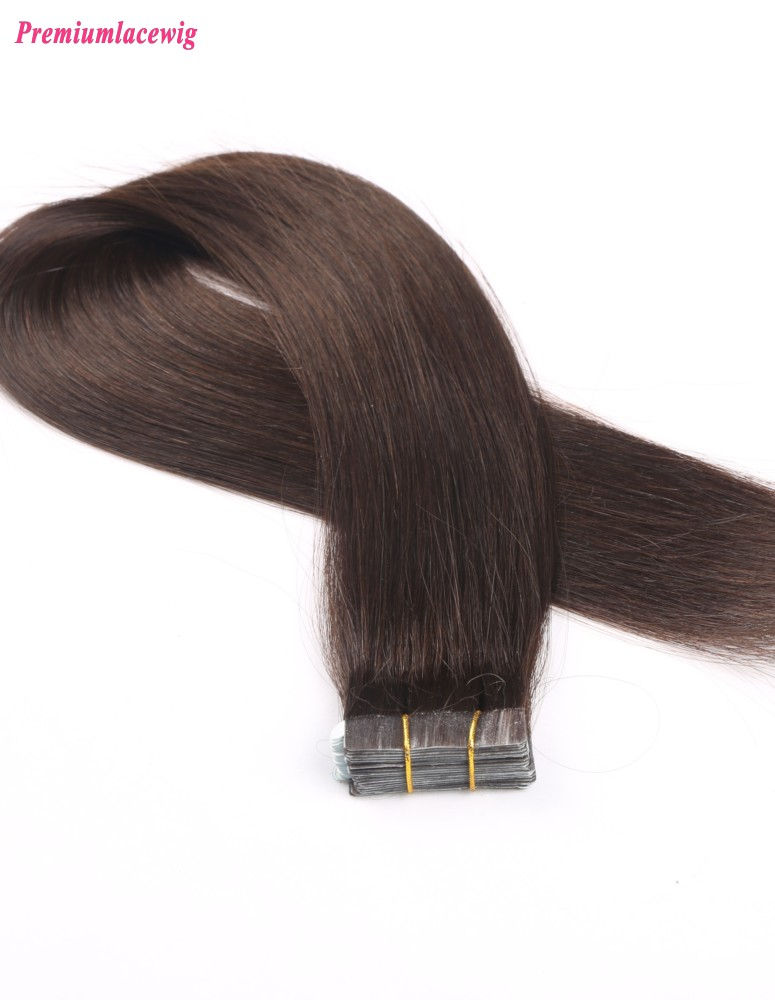20inch #2 Straight Brazilian Human Hair Double Tape in Hair Extensions