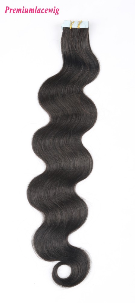 20inch Natural Color Body Wave Peruvian Double Tape in Human Hair Extensions
