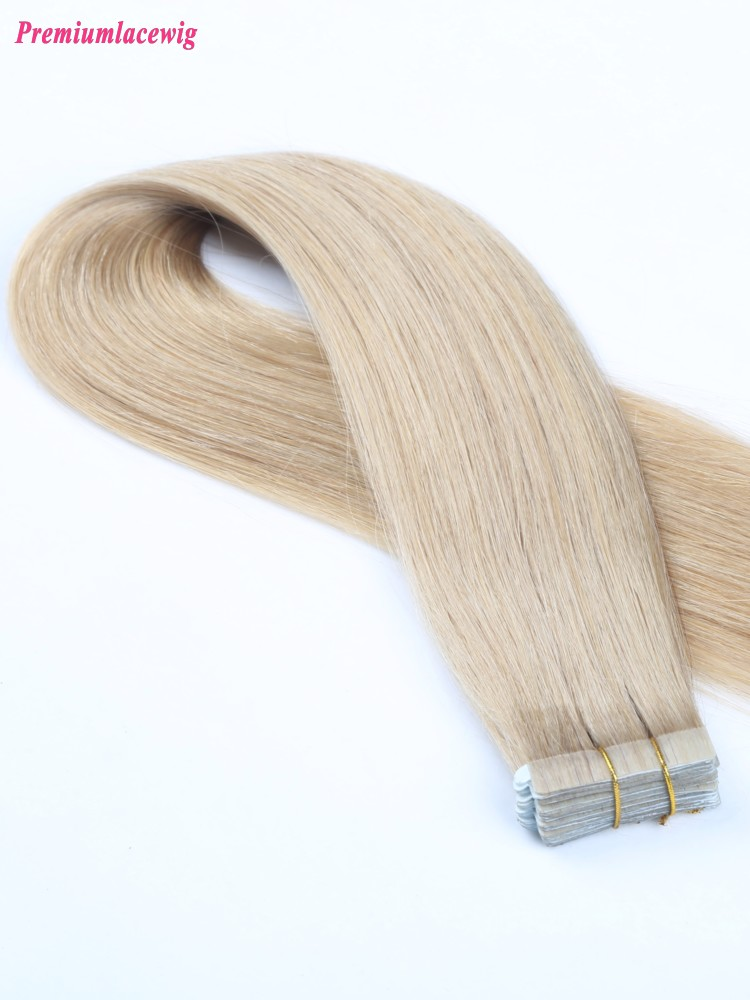 18inch 613 Color Malaysian Blonde Human Hair Double Tape Hair