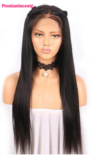 22 inch Straight Lace Front Wig Malaysian Human Hair