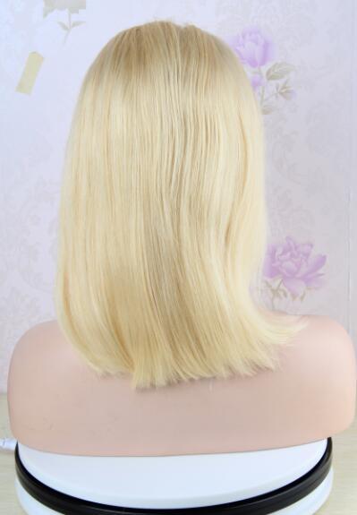 14 Inch Bob Blonde Full Lace Wig Brazilian Straight Human