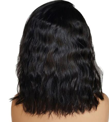 14 Inch Brazilian Human Hair Full Lace Wig Natural Wave