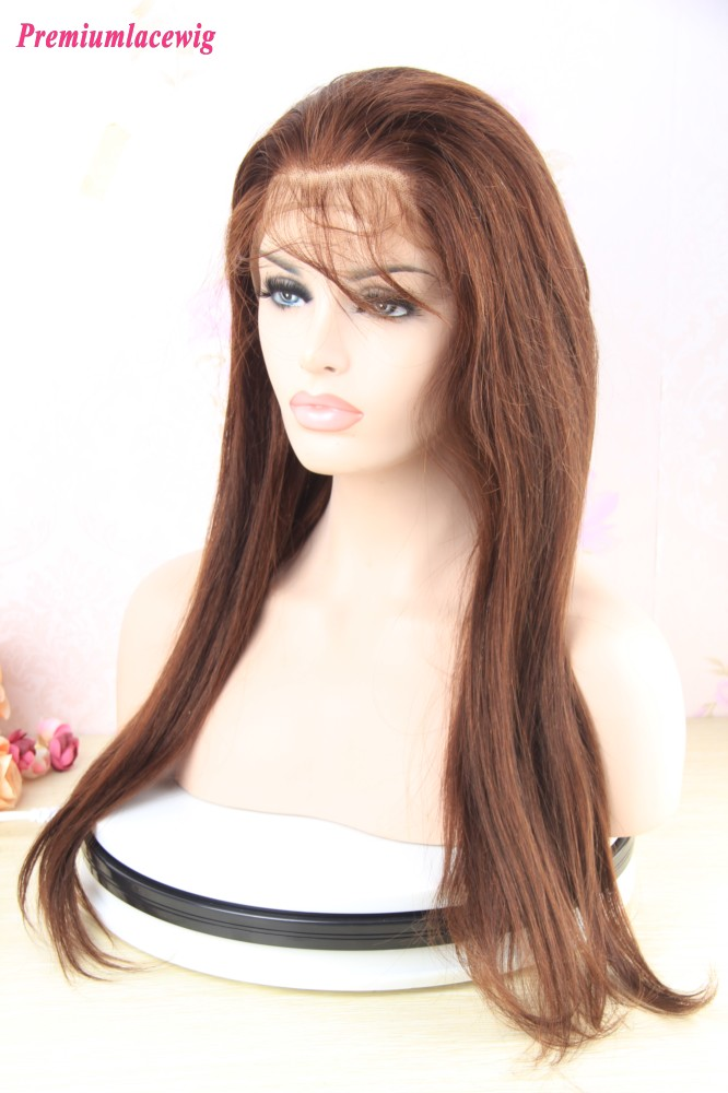 20 Inch Brazilian Straight Hair 360 Lace Frontal Wigs With Baby Hair