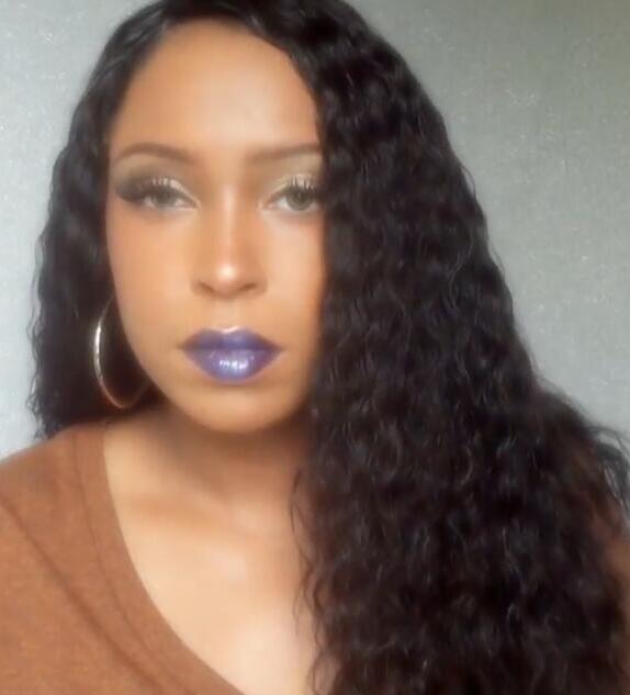 Brazilian Hair Full Lace Human Hair Wigs Deep Curly 22inch