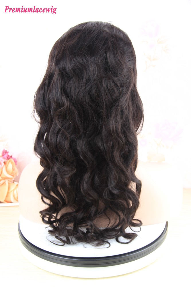 18 Inch Malaysian Body Curly Human Hair 360 Lace Front Wig