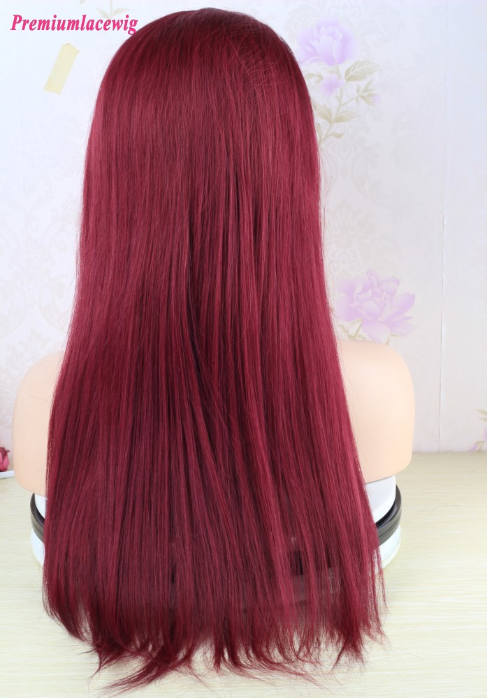 fashion style Burgundy Color Full Lace Wigs
