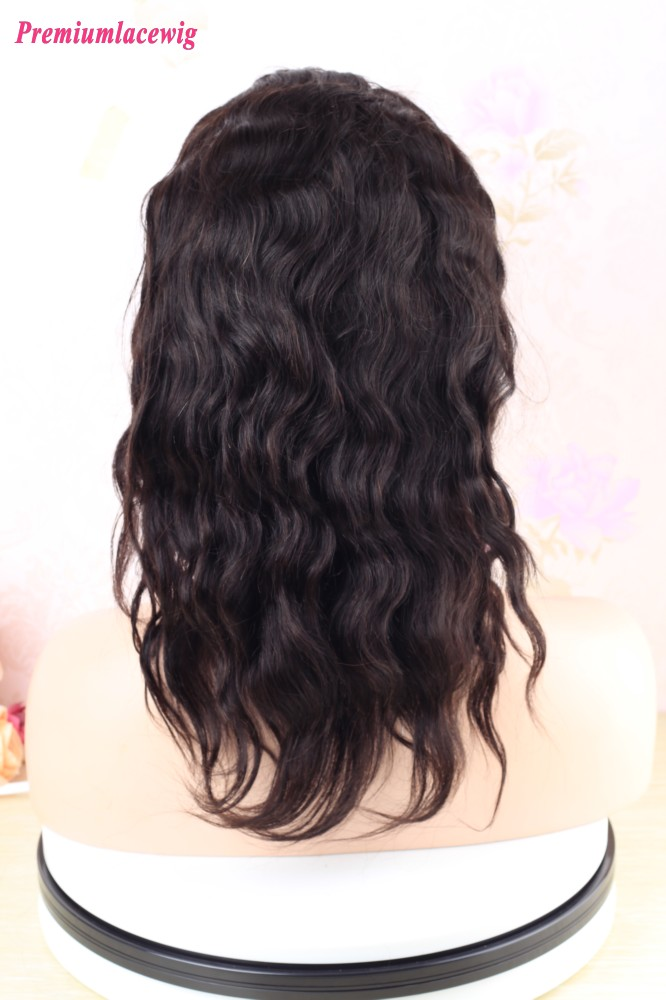 14 inch Natural Wave 360 Lace Front Wig Malaysian Human Hair