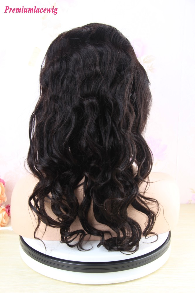 14 inch Premium 360 Lace Wig Pre Plucked Brazilian Loose Wave Hair