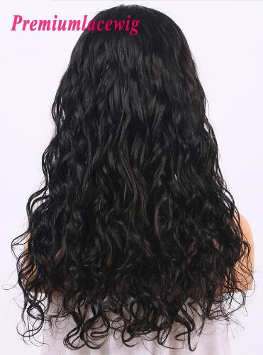 18 inch Peruvian Loose Curly 360 Lace Frontal Wigs 150% Density