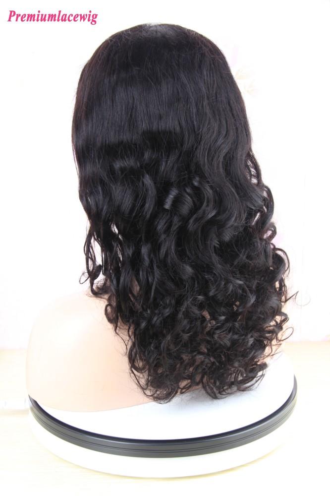 Cheap Full Lace Human Hair Wigs Loose Deep Wave Peruvian