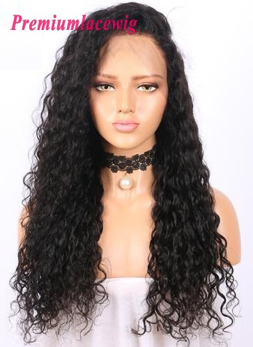Deep Wave 150% Density Pre Plucked Brazilian 360 Lace Wigs 20inch