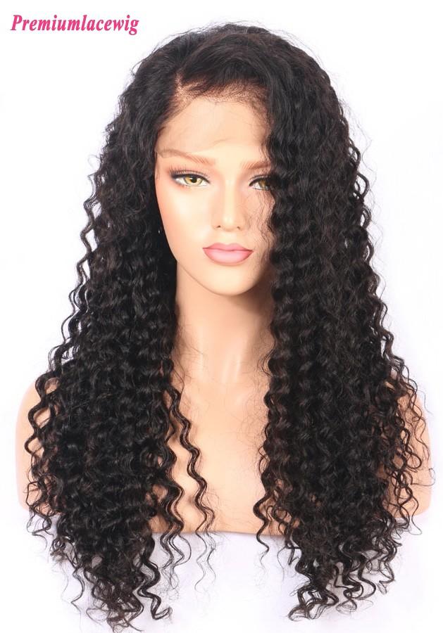 18 Inch Full Lace Wig Brazilian Deep Curly Human Hair In