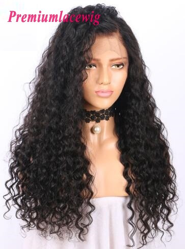 18 inch Full Lace Wig Brazilian Deep Curly Human Hair in 150% Density