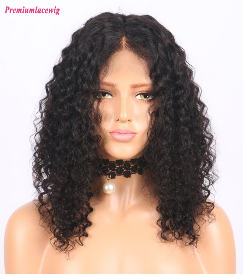 Brazilian Kinky Curly Bob styles 14inch 150% Density full lace wig