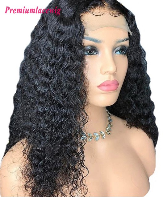 Kinky Curly Brazilian Hair 22inch 150% Density 360 Lace Wigs Preplucked