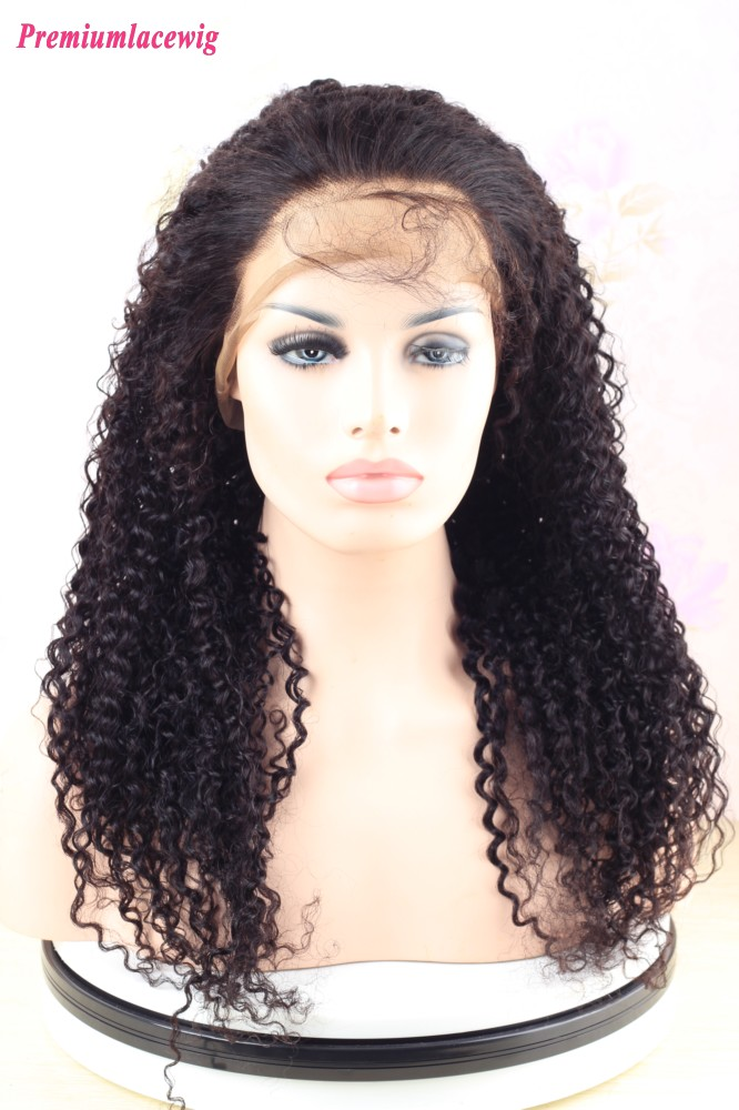 Kinky Curly Brazilian Virgin Hair 360 Wigs 20inch 180% Density