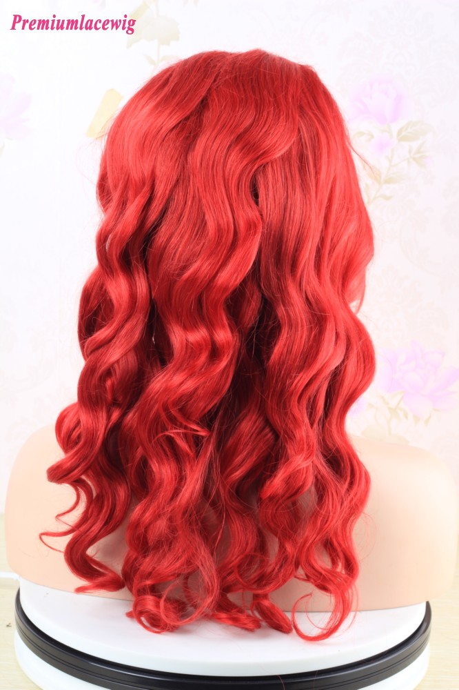 Red Color Brazilian Full Lace Wig Body Wave 18inch