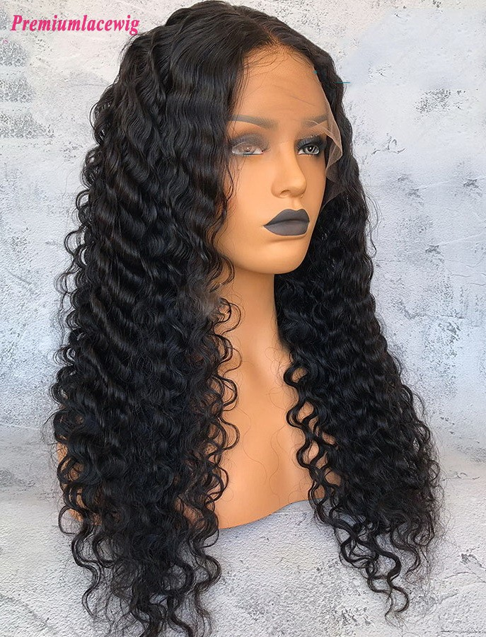 Brazilian Deep Wave 22inch 360 Lace Wigs Pre Plucked Hairline
