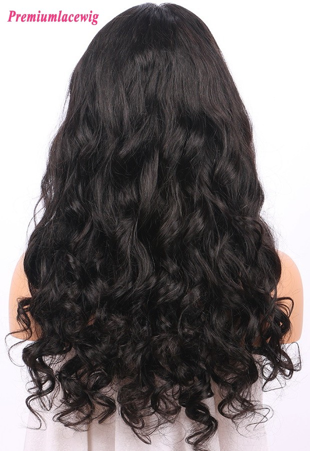 Malaysian Virgin Hair Loose Wave 130% Density wholesale 360 Lace Wig 20inch