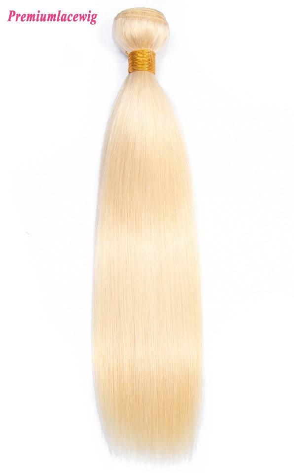 613 Blonde Hair Bundles Peruvian Straight Virgin Hair 16inch 1pc