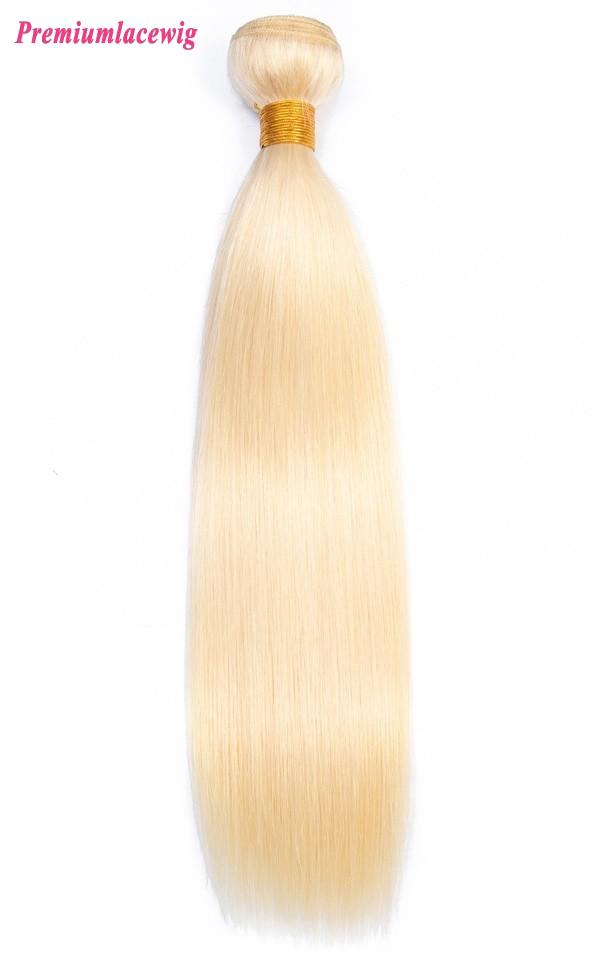 613 Blonde Hair Bundles Peruvian Straight Virgin Hair 16inch 1pc
