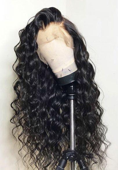 Loose Wave 360 Lace Wig Brazilian Virgin Hair Pre Plucked 20inch 150% density