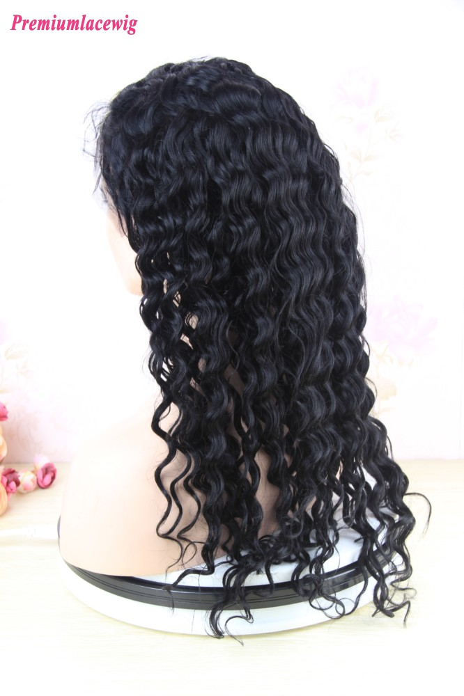 Premium Lace Front Wig Malaysian Loose Curl Human Hair 22inch