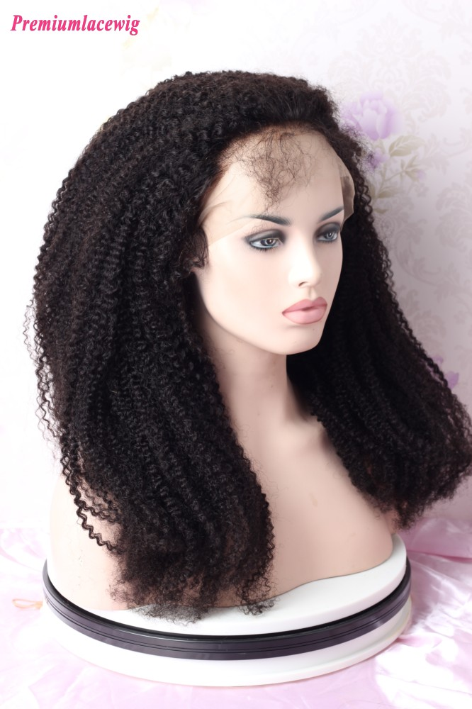250% Density Afro Curly 13x6 Lace Front Human Hair Wigs 24inch