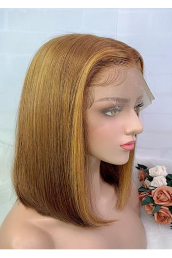 Wigs Ombre Full Lace Wig Brazilian Human Hair Wigs #30/27 150% Density 12inch