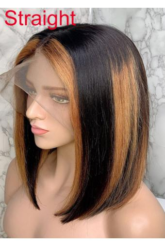 Wigs Wigs Ombre Color Blonde Full Lace Human Hair Wigs With Baby Hair T1B 27 150 Density 14inch.