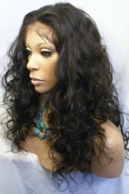 Full Lace Human Hair Wigs Brazilian Virgin Hair Body Curly 18inch