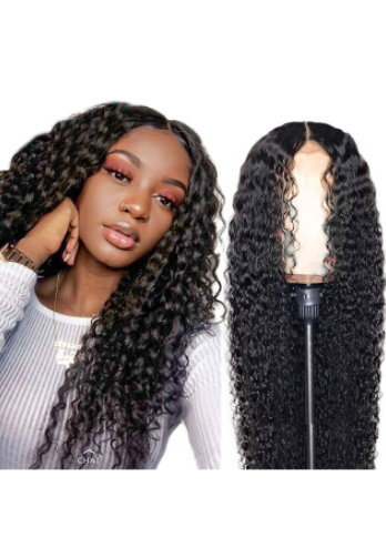 Brazilian hair curly lace front wig 18inch