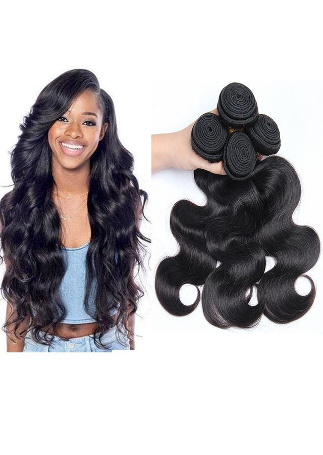 Body Wave Hair Bundles Brazilian Hair Weave Natural Color 3pcs/lot
