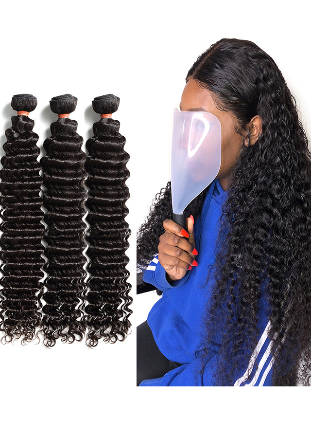 Deep Wave3 Bundles Brazilian Remy Hair 100% Human Hair Extension