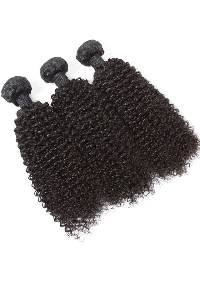 Kinky Curly Virgin Brazilian Hair Weave 4A 4B Unprocessed Human Hair Bundles Natural Color 3pcs/lot