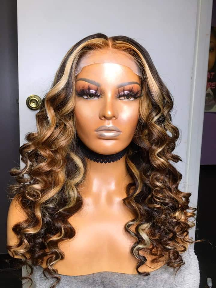 Lace Front Human Hair Wigs Honey Blonde Lace Front Wigs Ombre 18inch