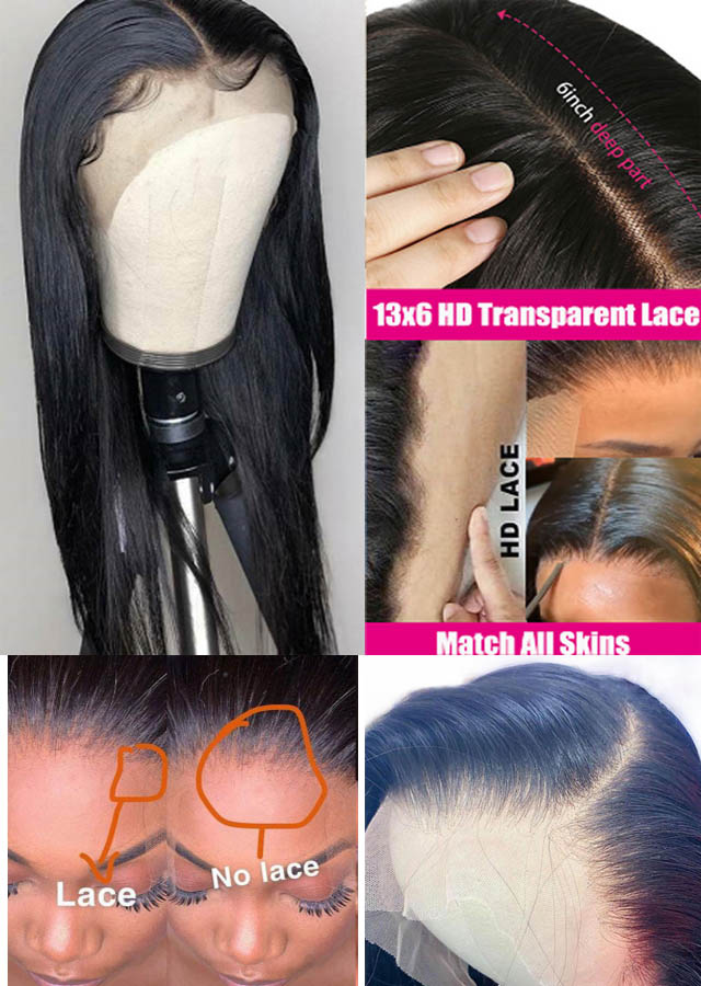 HD Lace Brazilian Straight Virgin Human Hair Lace Front Wig  13x6 18inch