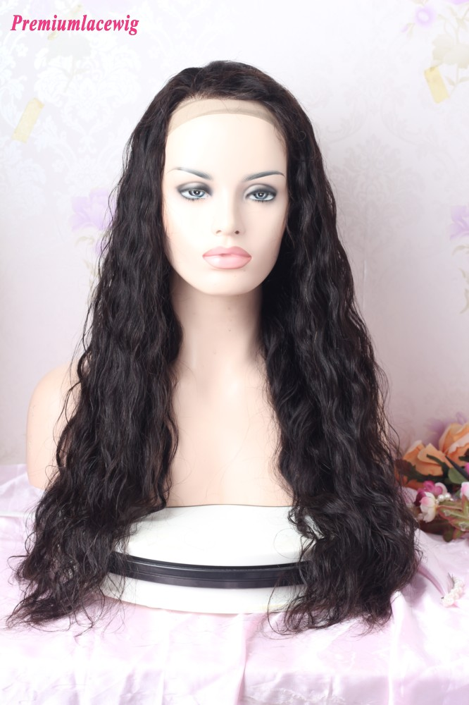 24inch Natural Color Body Wave Glueless Full Lace Wig