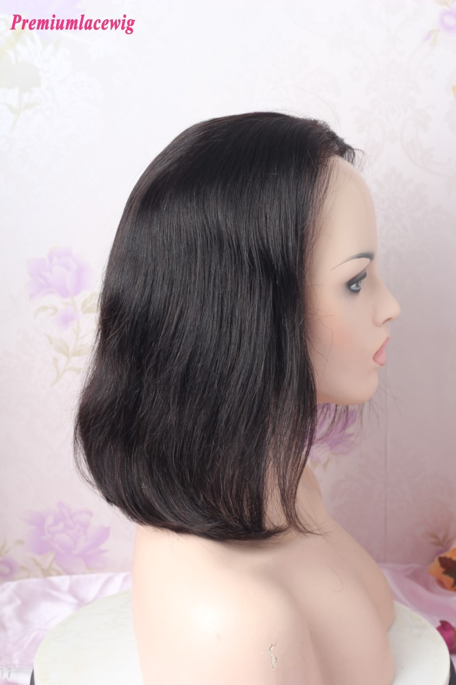 12inch Natural Color Straight Lace Front Wig