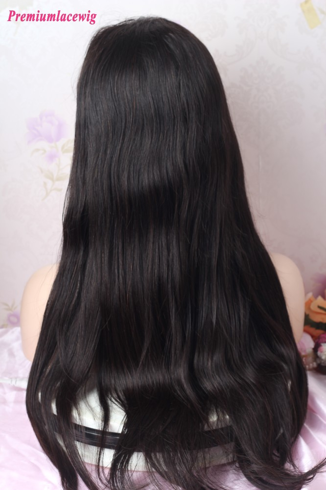 Silk Top 20inch Natural Color Straight Full Lace Wig