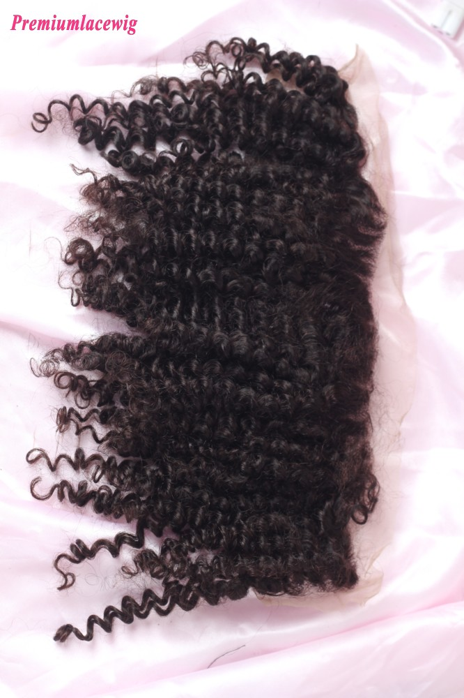 12inch Jeri Curly Lace Frontal Brazilian Hair 13X4