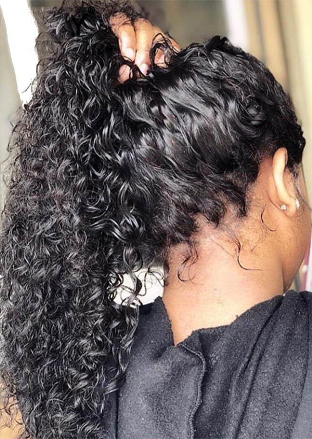 Brazilian Deep Curly Full Lace Wig 22inch Color 1 clearance sale