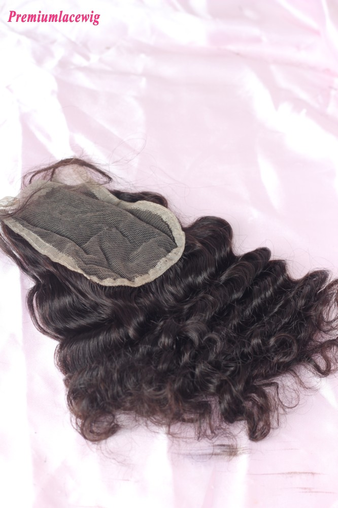 Lace Closure Deep Wave Virgin Human Hair 10inch