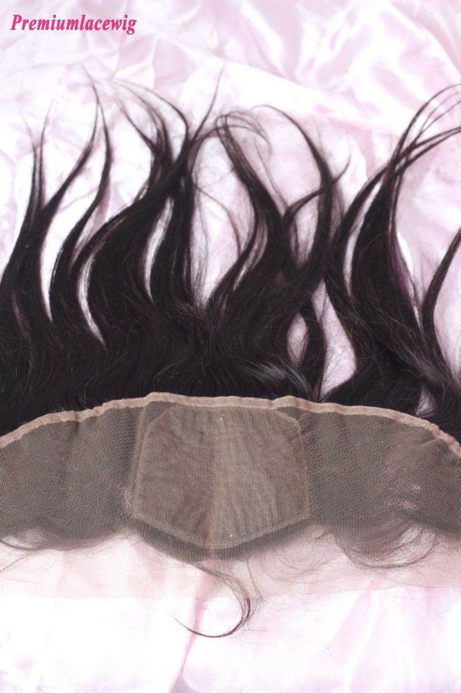Straight Lace Frontal Brazilian Hair 13X4 12inch Three Part