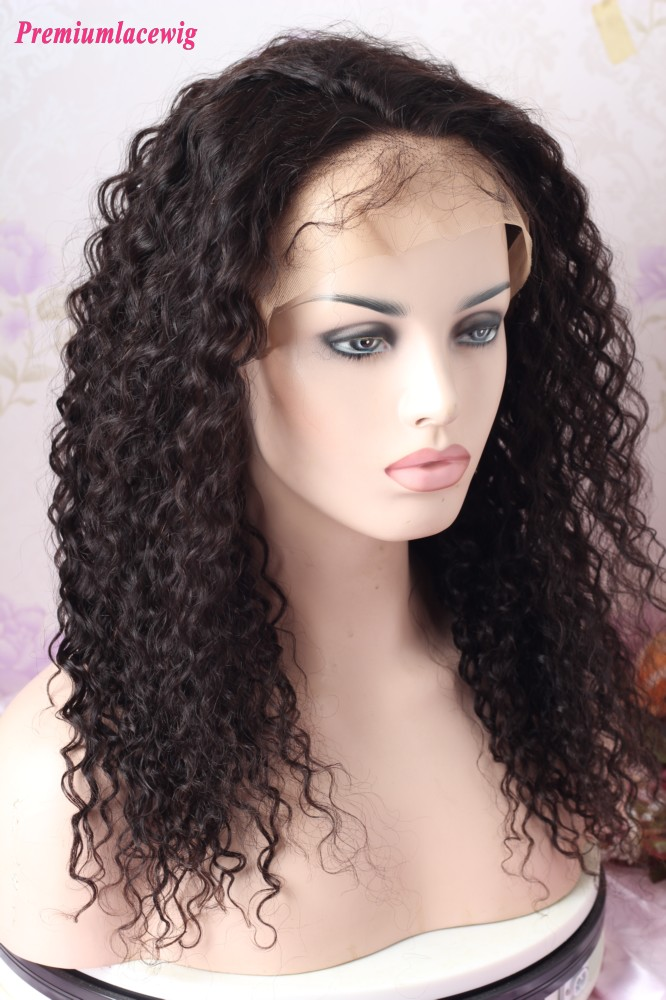 Malaysian Virgin Hair Deep Curly 22inch 13x6 Lace Front Wig 180 Density