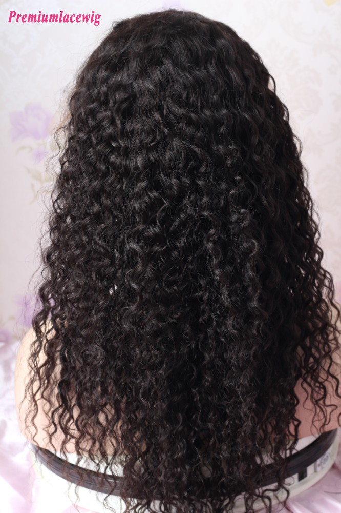 Water Wave Brazilian Virgin Hair 18inch 13x4 Lace Front Wig 150 Density
